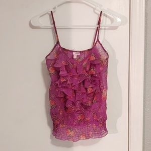 🐋2 FOR $9🐋 Purple floral tank top